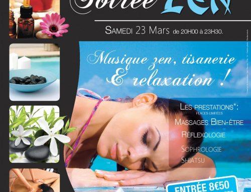 Soirée Zen piscine les Herbiers 23 mars 2019